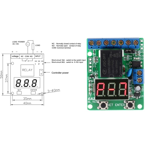 12V DC Multifunction Self-lock Relay PLC Cycle Timer Module Delay TimeTest Equipment &amp; Tools<br>12V DC Multifunction Self-lock Relay PLC Cycle Timer Module Delay Time<br>