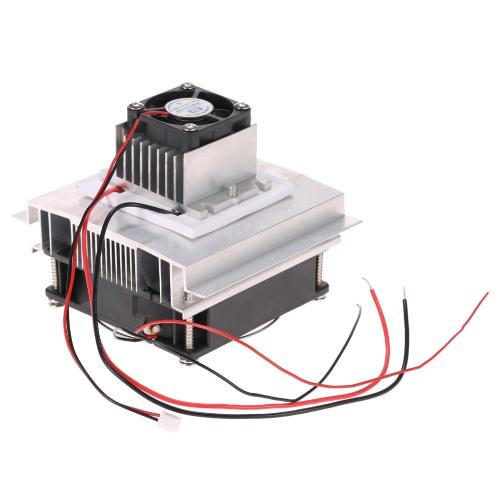 DIY термоэлектрический Пельтье Охлаждение Охлаждение Проводимость модуль системы Kit Semiconductor Cooler + Радиатор + Вентилятор охлаждения + TEC1-12706