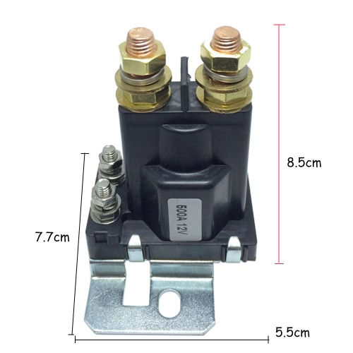 12VDC 500A AMP Heavy Current 4 Pin SPST Car Auto Start Relay Contactor Double Batteries Isolator Off On Control for Multi-batteryTest Equipment &amp; Tools<br>12VDC 500A AMP Heavy Current 4 Pin SPST Car Auto Start Relay Contactor Double Batteries Isolator Off On Control for Multi-battery<br>
