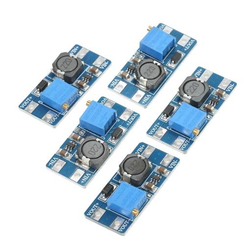 5 قطع MT3608 2a دس تستعد السلطة تطبيق وحدة الداعم وحدة الطاقة 5 فولت -28 فولت لاردوينو