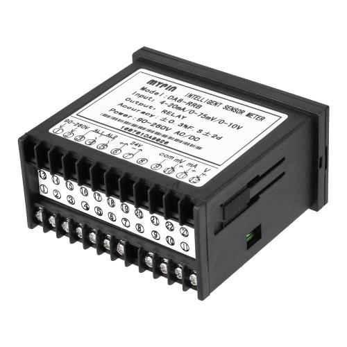 多機能インテリジェントデジタルセンサメータは、LEDディスプレイ0-75mV / 4〜20ミリアンペア/ 0〜10V 2リレーアラーム出力