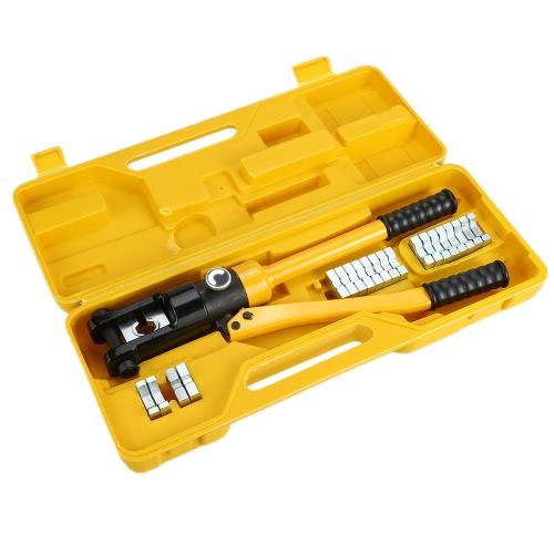 YQK-300 Range 16-300mm? 12 Ton Hexagon Hydraulic Crimp Pliers Terminal Crimping Crimper Tool Kit with 11 DiesTest Equipment &amp; Tools<br>YQK-300 Range 16-300mm? 12 Ton Hexagon Hydraulic Crimp Pliers Terminal Crimping Crimper Tool Kit with 11 Dies<br>