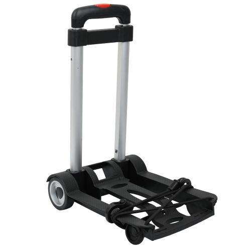 Portable Foldable Two-wheeled Luggage Shopping Travel Cart