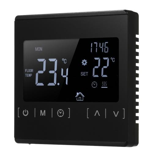 Электрический регулятор температуры напольного отопления LCD Сенсорный экран Термостат