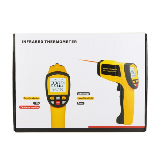 GM1150A Non-Contact 50:1 Digital Infrared IR Thermometer Laser Temperature Gun Tester Range -18~1150? (0~2102?) with LCD BacklightTest Equipment &amp; Tools<br>GM1150A Non-Contact 50:1 Digital Infrared IR Thermometer Laser Temperature Gun Tester Range -18~1150? (0~2102?) with LCD Backlight<br>