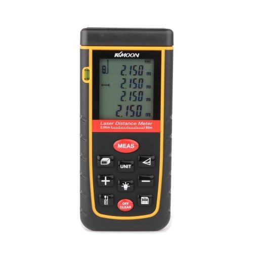 KKmoon Handheld 40m/131ft Digital Laser Distance Meter Range Finder Measure Distance Area Volume Self-calibration Level BubbleTest Equipment &amp; Tools<br>KKmoon Handheld 40m/131ft Digital Laser Distance Meter Range Finder Measure Distance Area Volume Self-calibration Level Bubble<br>