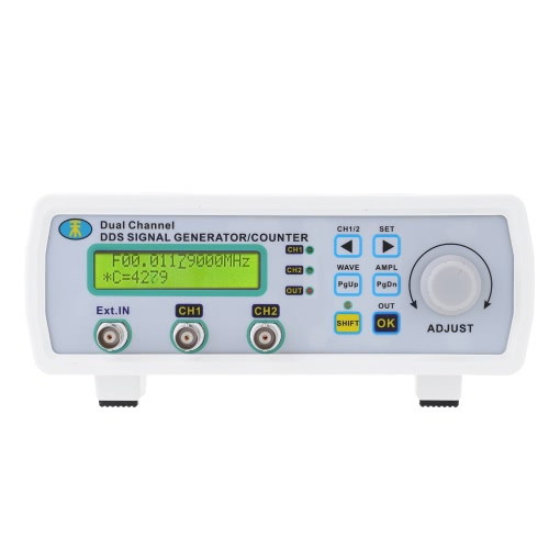 High Precision Digital DDS Dual-channel Signal Source Generator Arbitrary Waveform Frequency Meter 200MSa/s 6MHzTest Equipment &amp; Tools<br>High Precision Digital DDS Dual-channel Signal Source Generator Arbitrary Waveform Frequency Meter 200MSa/s 6MHz<br>