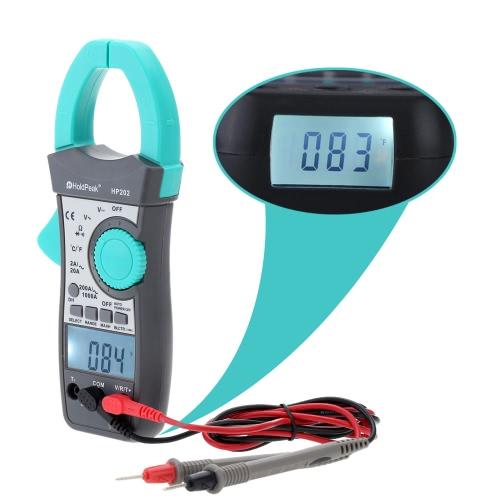 HP202 Digital Clamp Meter Multimeter AC/DC Voltage Current Resistance Temperature Measurement Dual DisplayTest Equipment &amp; Tools<br>HP202 Digital Clamp Meter Multimeter AC/DC Voltage Current Resistance Temperature Measurement Dual Display<br>