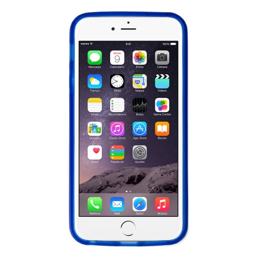 Silicone Case Cover With White Frame For Apple IPhone 6 Dark Blue