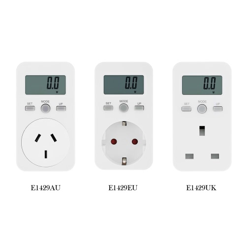 UK Plug Plug-in Digital LCD Energy Monitor Power Meter Electricity Electric Usage Monitoring SocketTest Equipment &amp; Tools<br>UK Plug Plug-in Digital LCD Energy Monitor Power Meter Electricity Electric Usage Monitoring Socket<br>