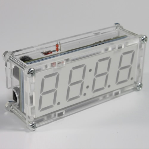 4-Digit DIY LED Electronic Clock Microcontroller 0.8inch Digital Tube ClockTest Equipment &amp; Tools<br>4-Digit DIY LED Electronic Clock Microcontroller 0.8inch Digital Tube Clock<br>