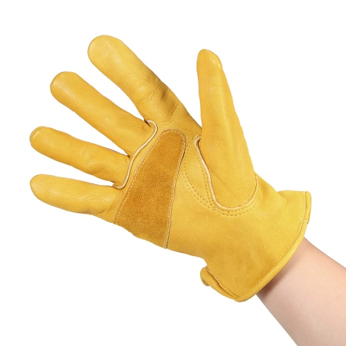 Mens Work Cowhide Gloves Gardening Digging Planting Leather Working Gloves Plant Flower Pruning Protective Glove Driver SecurityTest Equipment &amp; Tools<br>Mens Work Cowhide Gloves Gardening Digging Planting Leather Working Gloves Plant Flower Pruning Protective Glove Driver Security<br>