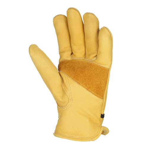 Leather Work Gloves with Adjustable Wrist Closure for DIY Yardwork Construction Motorcycle Mens Work Cowhide Gloves Gardening DigTest Equipment &amp; Tools<br>Leather Work Gloves with Adjustable Wrist Closure for DIY Yardwork Construction Motorcycle Mens Work Cowhide Gloves Gardening Dig<br>