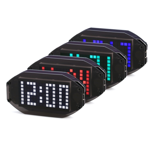 DIY Black Digital LED Mirror Clock Matrix Desktop Alarm Clock Electronic Learning Kit Module with 12H/24H Function ?/? TemperatureTest Equipment &amp; Tools<br>DIY Black Digital LED Mirror Clock Matrix Desktop Alarm Clock Electronic Learning Kit Module with 12H/24H Function ?/? Temperature<br>