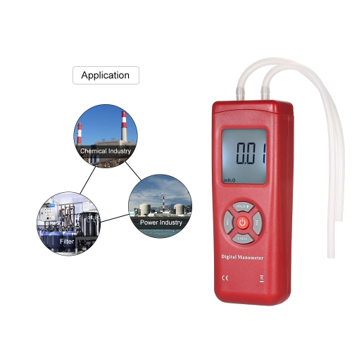 Professional Hand-held LCD Digital Dual-port Manometer Differential Air Pressure Gauges Tester with 11 Units of Measurement/±13.78Test Equipment &amp; Tools<br>Professional Hand-held LCD Digital Dual-port Manometer Differential Air Pressure Gauges Tester with 11 Units of Measurement/±13.78<br>