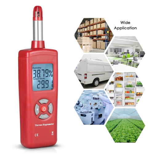 Digital LCD Thermo-Hygrometer Thermometer Hygrometer Temperature &amp; Humidity Meter Psychrometer Wet Bulb Dew Point Temperature DeteTest Equipment &amp; Tools<br>Digital LCD Thermo-Hygrometer Thermometer Hygrometer Temperature &amp; Humidity Meter Psychrometer Wet Bulb Dew Point Temperature Dete<br>