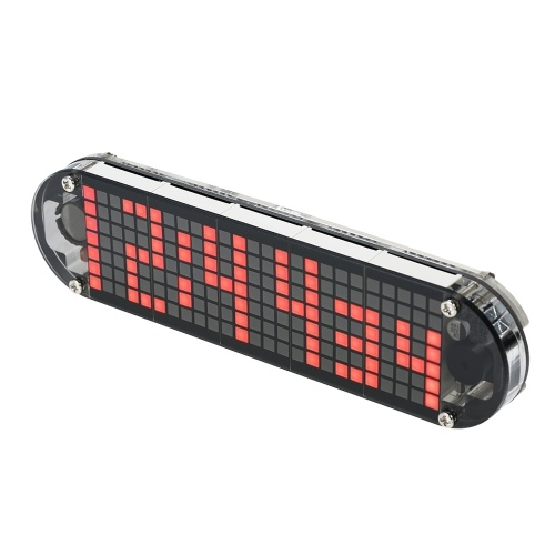 DS3231 High Accuracy DIY Digital Dot Matrix LED Alarm Clock Kit with Transparent Case Temperature Date Time Display