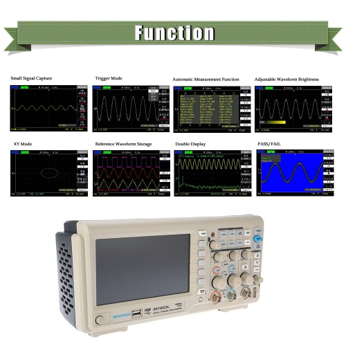 GRATTEN GA1102CAL Professional Digital Storage Oscilloscope 2CH 100MHz 1GSa/s 7 TFT DisplayTest Equipment &amp; Tools<br>GRATTEN GA1102CAL Professional Digital Storage Oscilloscope 2CH 100MHz 1GSa/s 7 TFT Display<br>