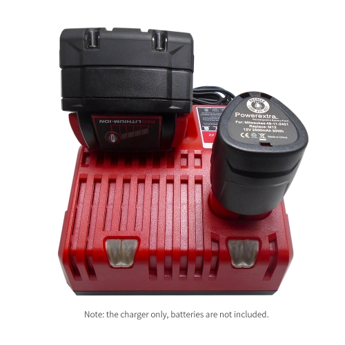 Replacement Li-ion Battery Charger Power Tool Lithium-ion Battery Charger for Milwaukee M12 M18 Battery Packs AC110-230VTest Equipment &amp; Tools<br>Replacement Li-ion Battery Charger Power Tool Lithium-ion Battery Charger for Milwaukee M12 M18 Battery Packs AC110-230V<br>
