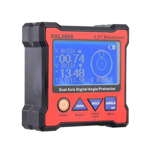 DXL360S Dual Axis Digital Angle Protractor with 5 Side Magnetic Base High-precision Dual-axis Digital Display Level Gauge 100-240VTest Equipment &amp; Tools<br>DXL360S Dual Axis Digital Angle Protractor with 5 Side Magnetic Base High-precision Dual-axis Digital Display Level Gauge 100-240V<br>
