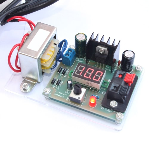LM317 1.25V-12V Continuously Adjustable Regulated Voltage Power Supply DIY Kit with TransformerTest Equipment &amp; Tools<br>LM317 1.25V-12V Continuously Adjustable Regulated Voltage Power Supply DIY Kit with Transformer<br>