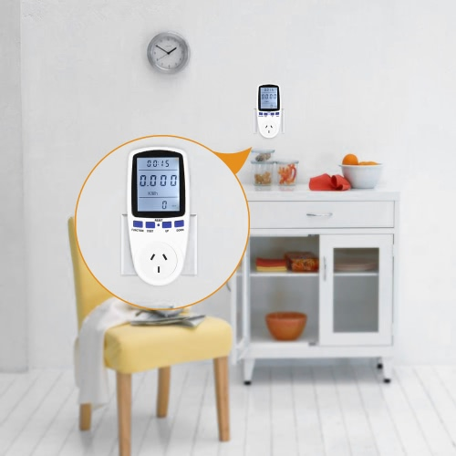 230V EU Plug Plug-in Digital LCD Energy Meter Wattage Voltage Current Frequency Monitor Analyzer with Power Factor Cost Overload DTest Equipment &amp; Tools<br>230V EU Plug Plug-in Digital LCD Energy Meter Wattage Voltage Current Frequency Monitor Analyzer with Power Factor Cost Overload D<br>