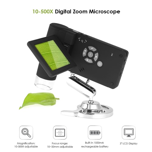 Professional Portable Handheld Mobile 3 LCD Digital Microscope 5M 10-500X up to 1200x By Digital Magnification Photo and Video CaTest Equipment &amp; Tools<br>Professional Portable Handheld Mobile 3 LCD Digital Microscope 5M 10-500X up to 1200x By Digital Magnification Photo and Video Ca<br>