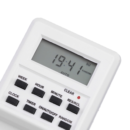 Plug-in Programmable Timer Switch Socket with Clock Summer Time Multi Function US PlugTest Equipment &amp; Tools<br>Plug-in Programmable Timer Switch Socket with Clock Summer Time Multi Function US Plug<br>