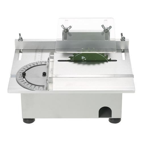 100W Mini Tisch sah Aluminium Miniatur DIY Multifunktions Holzbearbeitung Banksäge