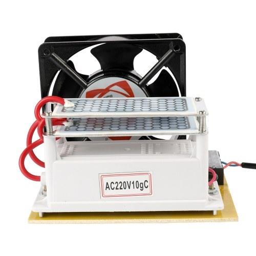 Ventilateur portatif d'épurateur de filtre à air de machine de désinfection de générateur de l'ozone 10g / h