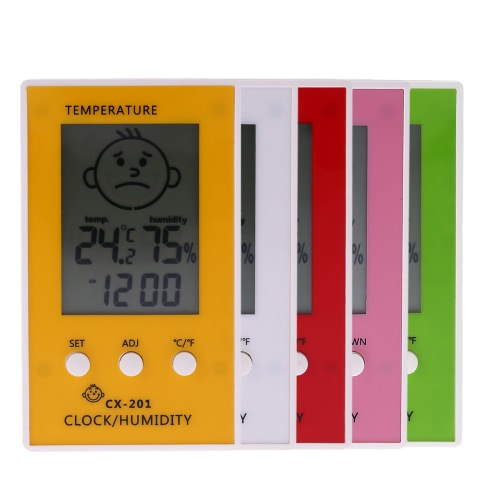 LCD Digital Thermometer Hygrometer Clock Temperature Humidity Measurement °C/°F Comfort Level DisplayTest Equipment &amp; Tools<br>LCD Digital Thermometer Hygrometer Clock Temperature Humidity Measurement °C/°F Comfort Level Display<br>