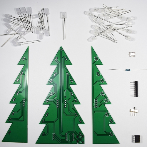 DIY Star Flashing 3D LED Light Decoration Christmas Tree Electronic Learning Kit Module Switching Different Effect By One ButtonTest Equipment &amp; Tools<br>DIY Star Flashing 3D LED Light Decoration Christmas Tree Electronic Learning Kit Module Switching Different Effect By One Button<br>