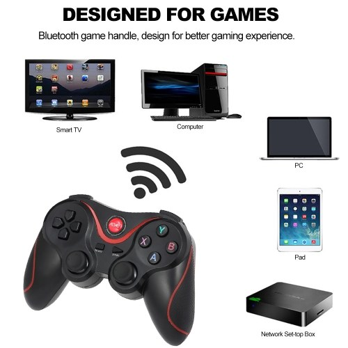 T-300 Wireless BT Gamepad Gaming Controller Joystick for Andriod PC Andriod Box Simulator Games