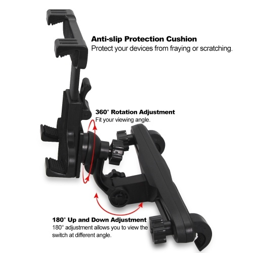 Adjustable Car Holder Stand for Nintendo Switch Headrest Mount Holder Bracket Holder for Switch NS Console