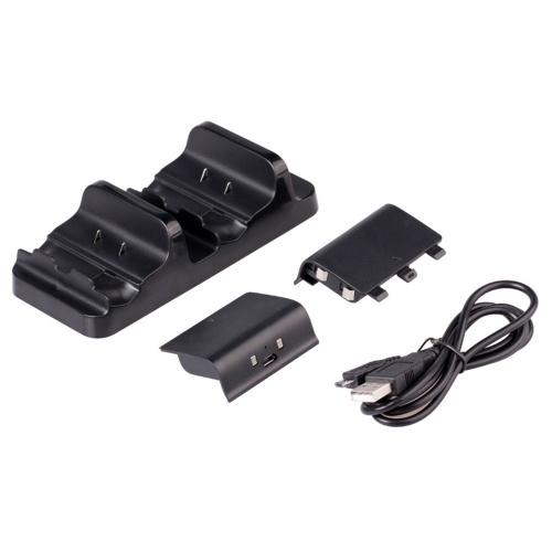 デュアルUSBゲームパッド充電器ジョイパッド充電ドックジョイスティック充電ステーション2×300mAh充電式バッテリーXBOX ONE X / XBOX ONE / XBOX ONEスリム