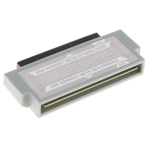 Adaptador de FC a NES Convertidor de adaptador de 60 pines a 72 pines para el sistema de consola NES, excepto la consola original de Nintendo Nes
