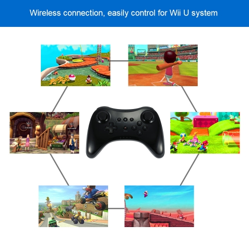 Wireless Dual Analog Joystick Gamepad Game Controller Game Console Black for Wii UToys &amp; Hobbies<br>Wireless Dual Analog Joystick Gamepad Game Controller Game Console Black for Wii U<br>