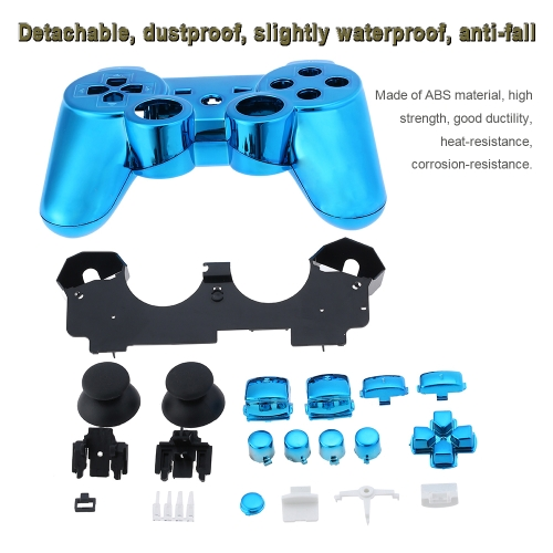 Metal-plated Full Housing Controller Shell Gamepad Shell Cover Case with Matching Buttons Blue for Xbox 360Toys &amp; Hobbies<br>Metal-plated Full Housing Controller Shell Gamepad Shell Cover Case with Matching Buttons Blue for Xbox 360<br>