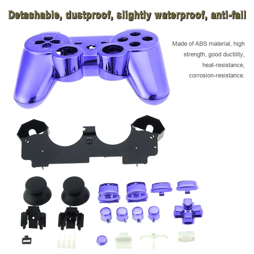 Metal-plated Full Housing Controller Shell Gamepad Shell Cover Case with Matching Buttons Puple for Xbox 360Toys &amp; Hobbies<br>Metal-plated Full Housing Controller Shell Gamepad Shell Cover Case with Matching Buttons Puple for Xbox 360<br>