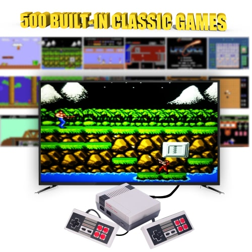 NES Game Machine Mini TV Handheld Game Console Family Recreation Video Game Console for Nes Games with 500 Classic Built-in GamesToys &amp; Hobbies<br>NES Game Machine Mini TV Handheld Game Console Family Recreation Video Game Console for Nes Games with 500 Classic Built-in Games<br>