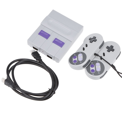 SN-02 Classic Family Game Console Mini HD TV Video Game Console Dual Gamepad incorporado 821 Classic Games para SNES Games