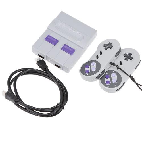 SN-02 Classique Famille Console de jeu Mini HD TV Console de jeu vidéo Double Gamepad intégré 821 Jeux classiques pour les jeux SNES