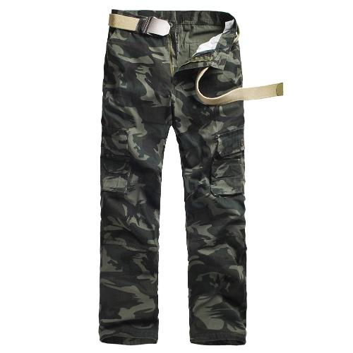 Los nuevos hombres Pantalones de Carga camuflaje Multi-bolsillos camping Trabajo del estilo militar al aire libre pantalones casuales