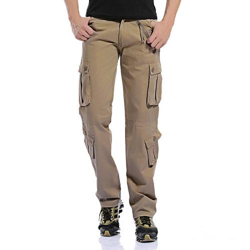 Pantalones pantalones de carga militar del ejército de los hombres holgados tácticos al aire libre Pantalones largos ocasionales