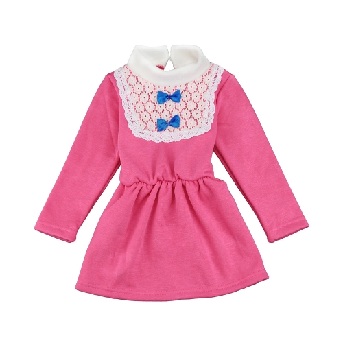 Cute Turtleneck Lace Bow Knot Keyhole Button Princess Dress for GirlApparel &amp; Jewelry<br>Cute Turtleneck Lace Bow Knot Keyhole Button Princess Dress for Girl<br>