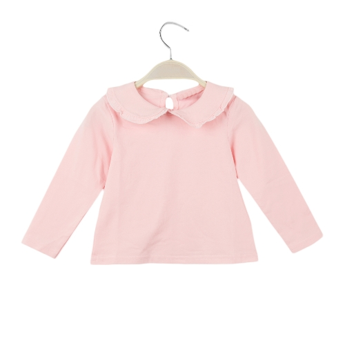 Sweet Peter Pan Collar Keyhole Button Back Long Sleeve Blouse for Baby GirlApparel &amp; Jewelry<br>Sweet Peter Pan Collar Keyhole Button Back Long Sleeve Blouse for Baby Girl<br>