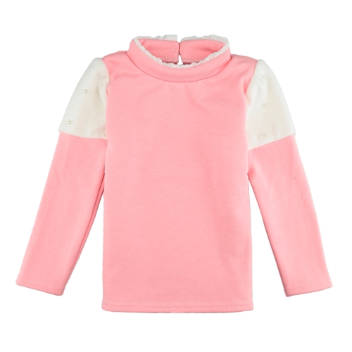 New Girls Kids Blouse Splice Pearl Button Long Sleeves Warm Casual Children Pullover Top Sweatshirt White/Pink/Dark BlueApparel &amp; Jewelry<br>New Girls Kids Blouse Splice Pearl Button Long Sleeves Warm Casual Children Pullover Top Sweatshirt White/Pink/Dark Blue<br>