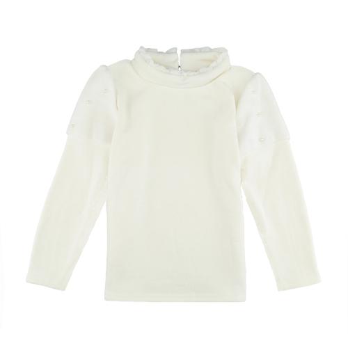 Fashion Girl Splice Pearl Button Long Sleeve Warm Pullover SweatshirtApparel &amp; Jewelry<br>Fashion Girl Splice Pearl Button Long Sleeve Warm Pullover Sweatshirt<br>