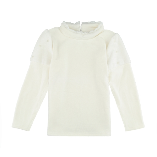 Fashion Girl Splice Pearl Button Long Sleeve Warm Pullover SweatshirtApparel &amp; Jewelry<br>Fashion Girl Splice Pearl Button Long Sleeve Warm Pullover Sweatshirt<br>