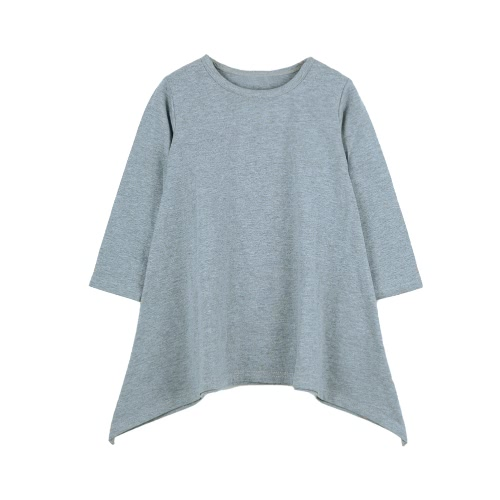 Fashion Kids Cotton A-Line Irregular Hem Round Neck Long Sleeve Loose Children Girls DressApparel &amp; Jewelry<br>Fashion Kids Cotton A-Line Irregular Hem Round Neck Long Sleeve Loose Children Girls Dress<br>
